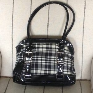 Black and White Checked Bag